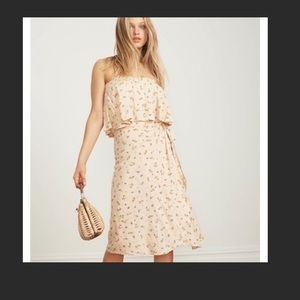 Faithfull the Brand Linnie Wrap Skirt Sz 2